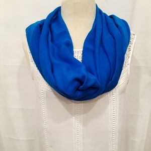 "75x23""  royal blue scarf Freng on the long sides"